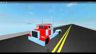 Taking Truck Drivers United CDL Test on roblox.
