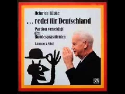 Heinrich Lübke redet für Deutschland - Pardon verteidigt den Bundespräsidenten