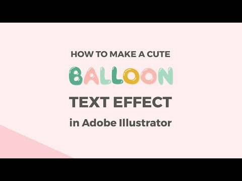 How to make a cute balloon text effect in Illustrator