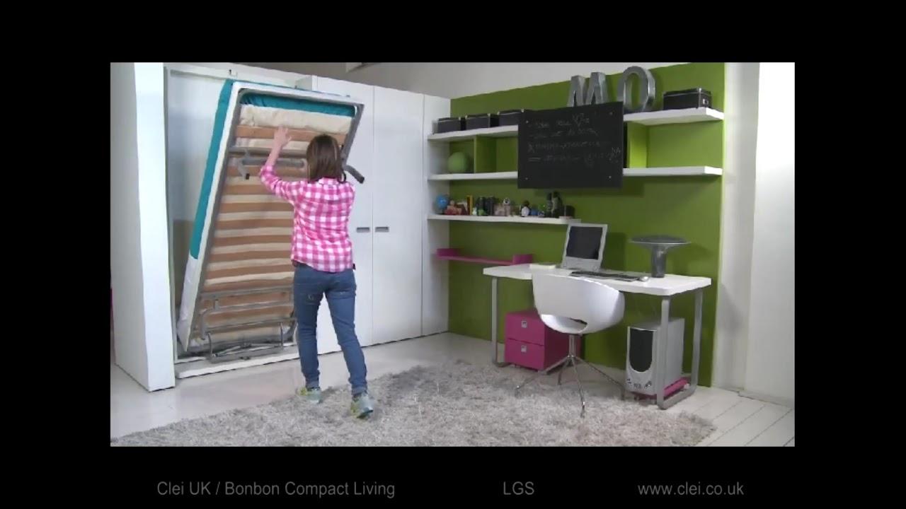 Clei UK - LGS swivel wall bed unit - YouTube