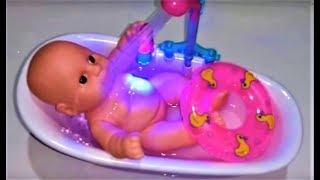 لعبة إستحمام الطفل الرضيع : العاب بنات و أولاد : دش مياه حقيقي Baby Doll Bath