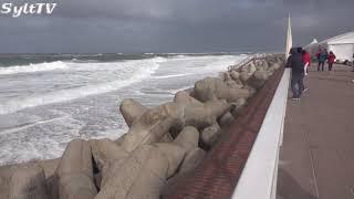 Sturmtief Elena zog über Sylt hinweg