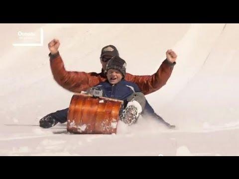 Wooden Toboggan Plans DIY Snow Traditional Sled Downhill Sledding Winter Sports
