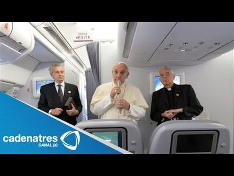 Papa Francisco Ofrece Conferencia En Avión Y Habla Sobre Homosexualidad
