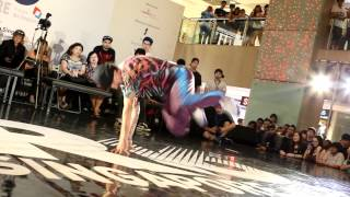 R16 SINGAPORE 2012 - Locking & Popping & Break Dance Competition Judge Performance 2  Bboy Bounce