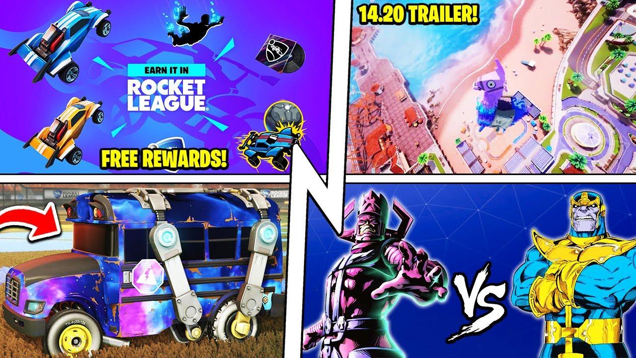 BIG 14.20 Update Tonight, FREE REWARDS, Llama Rama Trailer, Galactus VS Thanos