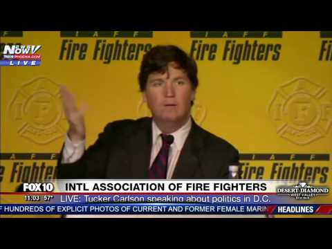 WOW: Tucker Carlson GOES IN on DC Politicians, Says They Hate Trump @ IAFF Fire Fighters Conference