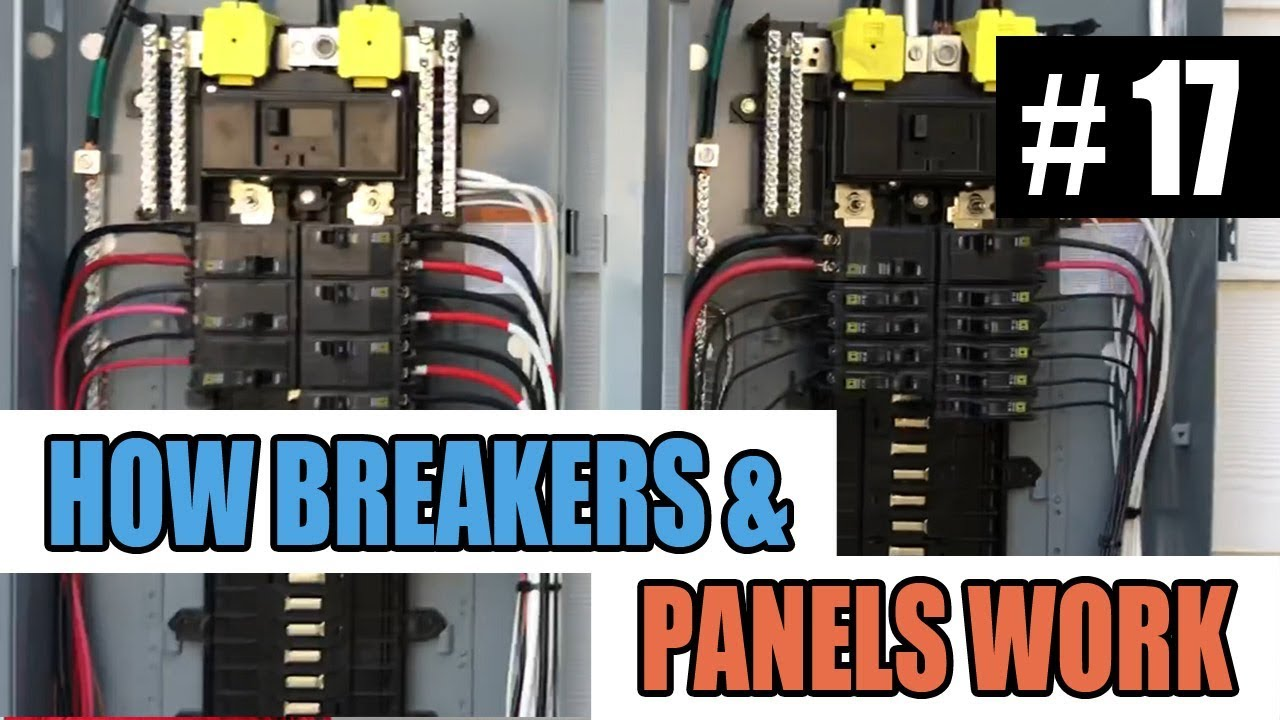 electrical service entrance panel wiring diagram episode 17 how circuit breakers and electrical panels work youtube  circuit breakers and electrical panels