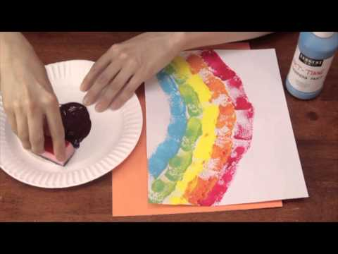Sponge Printing For Kindergarten Art Activities Crafts For Kids