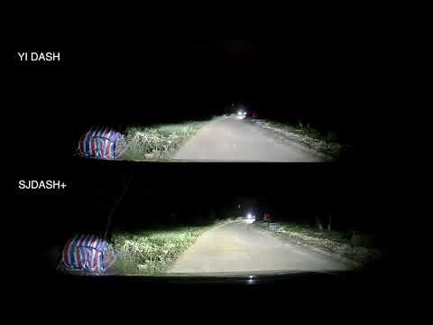 SJDASH+ (M30+) Dashcam Vs YI DASH -  Night Footage Comparison Video