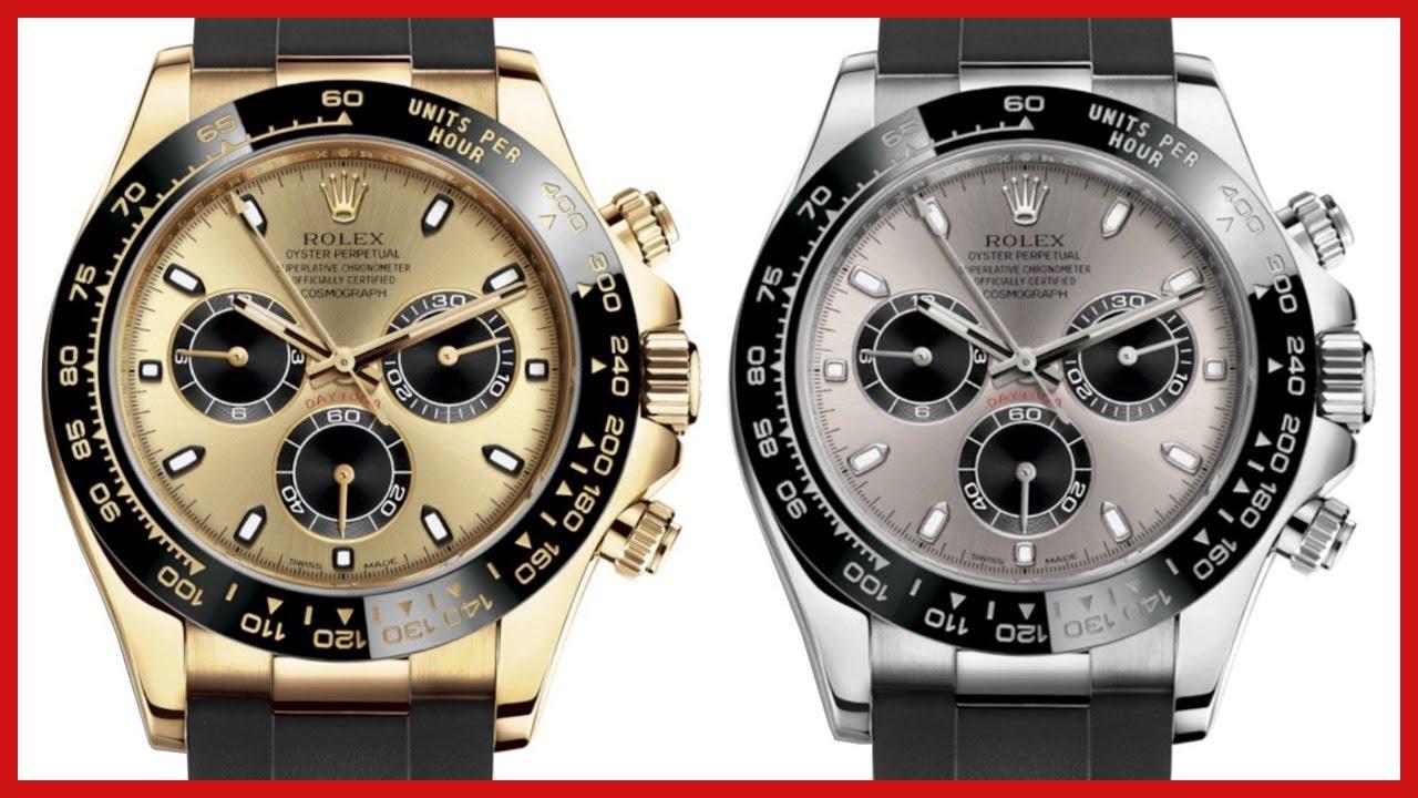 5d32b06fe Rolex Cosmograph Daytona, Yellow Gold Ceramic, Oysterflex VS Daytona White  Gold - COMPARISON