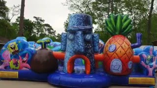 spongebob toddler bounce house houston tx   281 606 5867   sky high party rentals