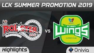 KT vs JAG Highlights Game 1 LCK Summer 2019 Promotion KT Rolster vs Jin Air GreenWings LCK Highlight