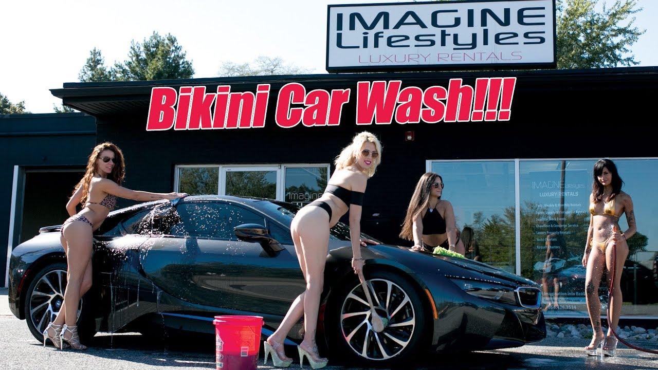 Car Wash Full Service >> Cheerleaders Girls wash Exotic Cars at Imagine Lifestyles ...