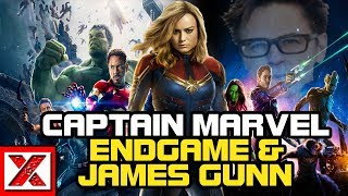 "Brie Larson & Captain Marvel's ""Success"" Continues, Avengers Endgame Trailer & James Gunn Returns"
