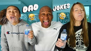 DAD JOKES!! Try Not To Laugh Challenge