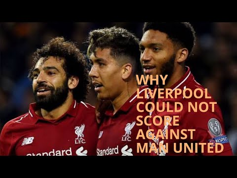 WHY LIVERPOOL COULD NOT SCORE AGAINST MAN UNITED ON SUNDAY