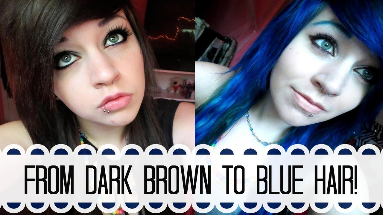 Bleaching And Dying My Hair Blue YouTube