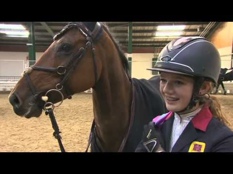 Showjumping  - Charlotte Ash Winning Round in the Dunglen SCOPE 2014