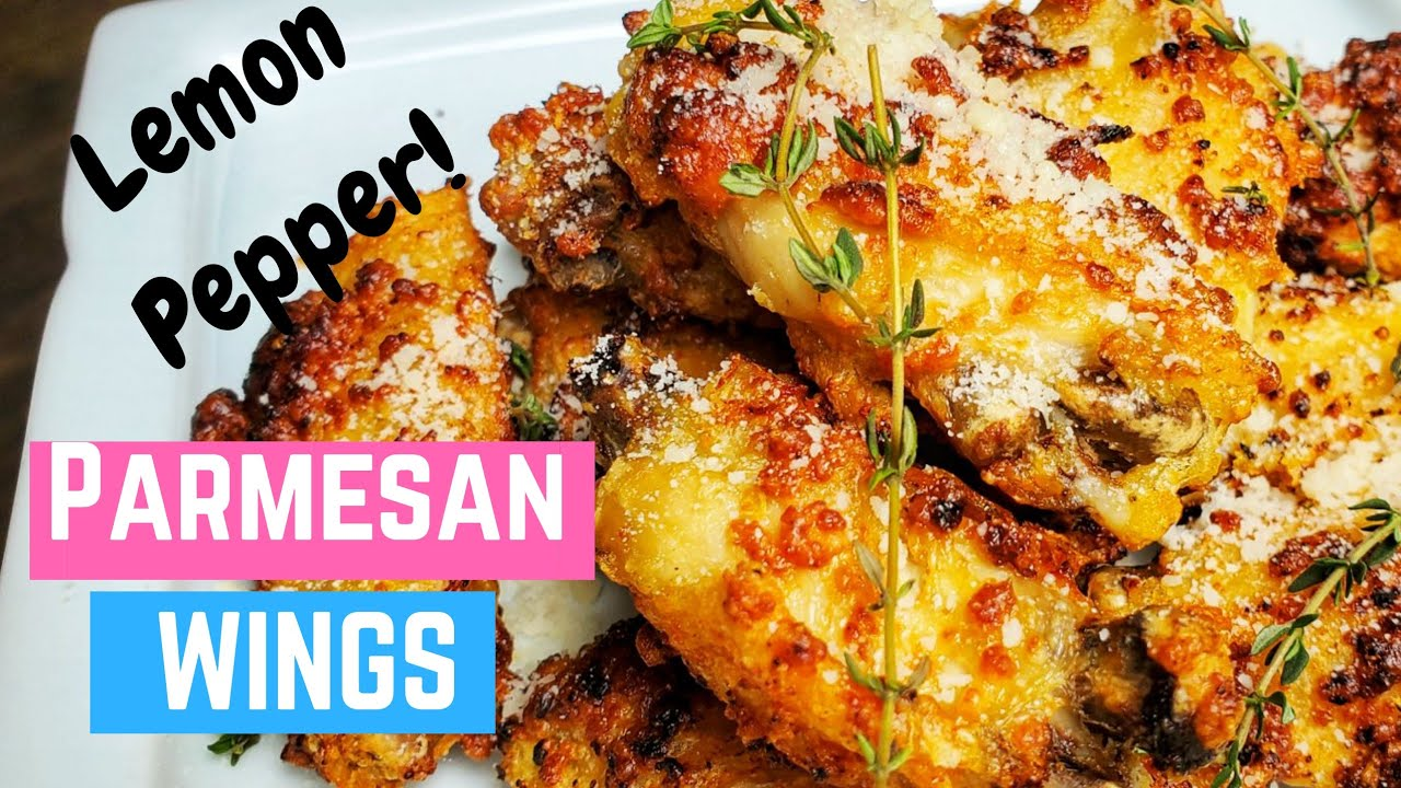 Air Fryer Lemon Pepper Parmesan Chicken Wings Cosori Air Fryer Recipes Youtube