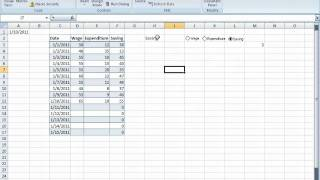 Excel tricks - Dynamic charts using Excel objects - Radiobutton
