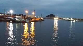 제주 새섬옆 풍경 바다 선박들 이쁜 바다 밤풍경 kor…