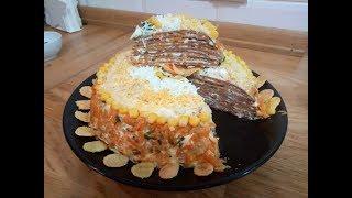 Печеночный торт ,из куриной печени,вкуснятина
