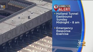 Eastbound Holland Tunnel Into NYC Closed Saturday Night