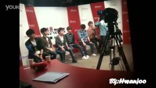 [FANCAM] 120413 EXO - M @ NetEase Before the Interview