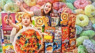 CEREAL BOX FORT! worlds smallest CEREAL MONSTER