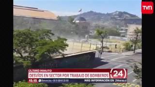 TVN - ÚLTIMO MINUTO - Fuga de gas en Santiago