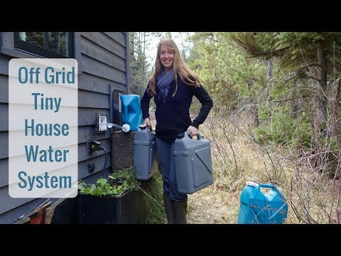 Life in a Tiny House called Fy Nyth - Off Grid Water System - 10/31/17
