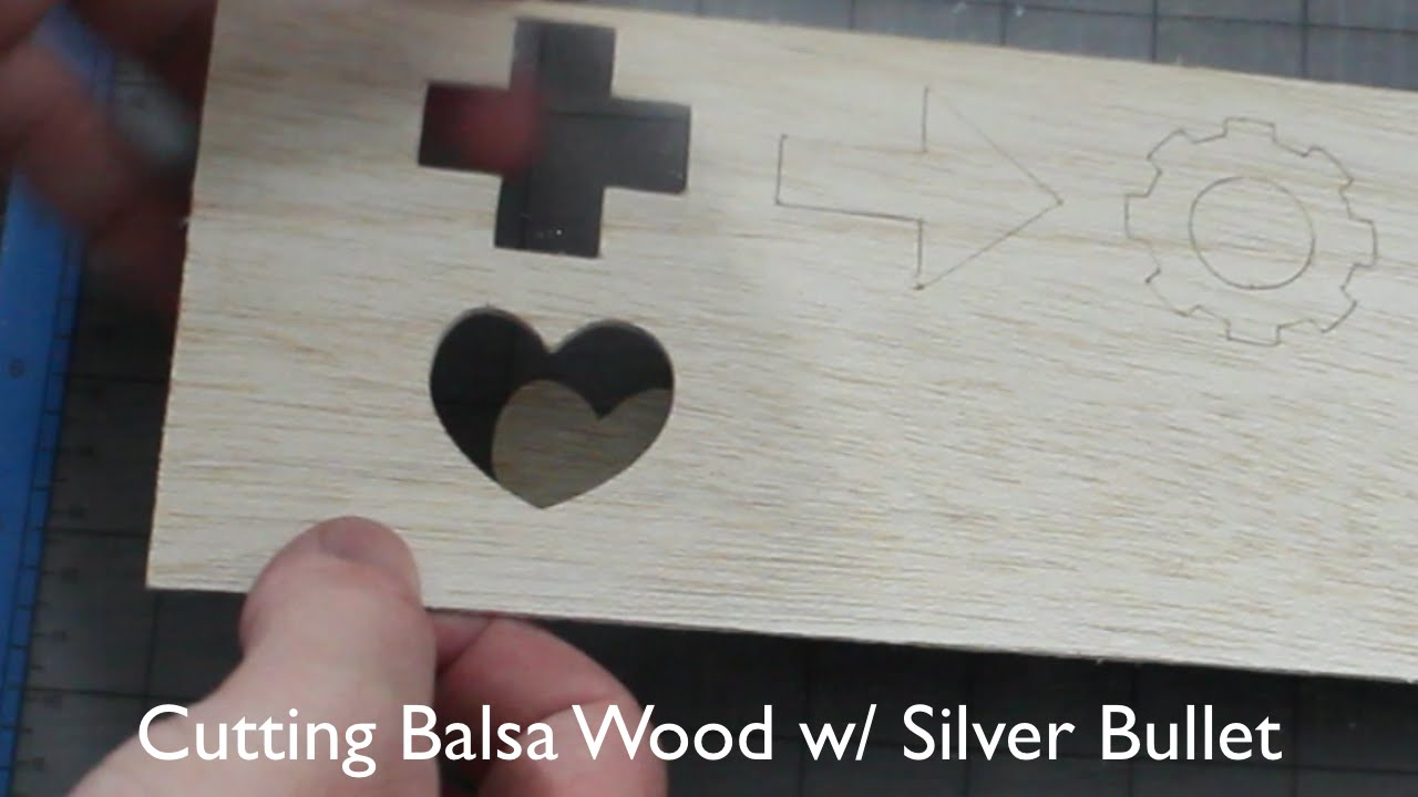 How to cut holes in wood - Cutting Balsa Wood With The Silver Bullet Professional Series Machine Youtube
