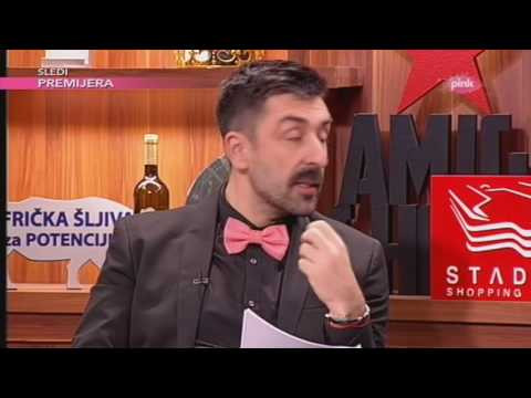 Olga Odanovic imitira Radosa Bajica i Milenu Dravic - Ami G Show S09