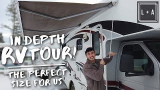 Our 23ft Class C RV Tour! Full Motorhome Walk Through 🍁 Video