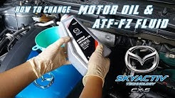 Replace engine oil & transmission oil // Mazda CX 5
