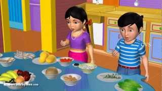 Learn Telugu Ruchulu - Taste -   3D Animation Telugu Rhymes for children
