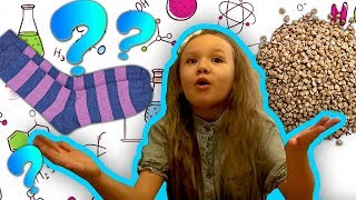 Нереальные ОПЫТЫ –НОСОК с ГРЕЧКОЙ? ЧТО? Опыты в домашних условиях Эксперименты для детей | Умитайм