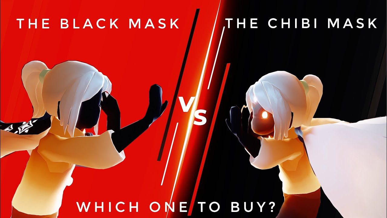 CHIBI MASK OR BLACK MASK?   BEST BUY REVIEW - BEGINNERS GUIDE   sky children of the light  Noob Mode