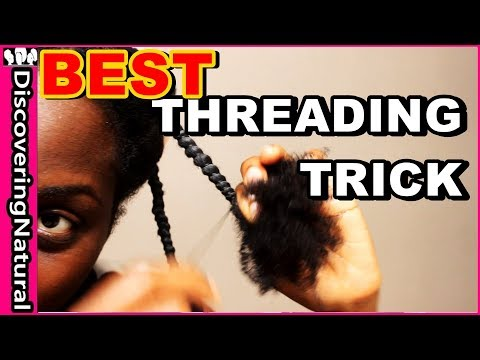 African Threading Trick You SHOULD Know | Natural Hair Hacks