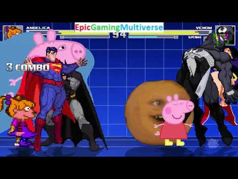 Nick Jr. Characters (Peppa Pig And Dora) VS Venom And Cartoon Network Characters In A MUGEN Match