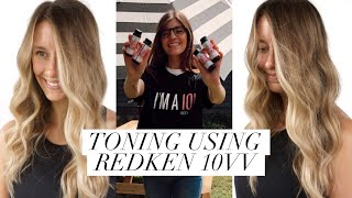 TONING USING ALL REDKEN PRODUCTS    Lexi Dawn
