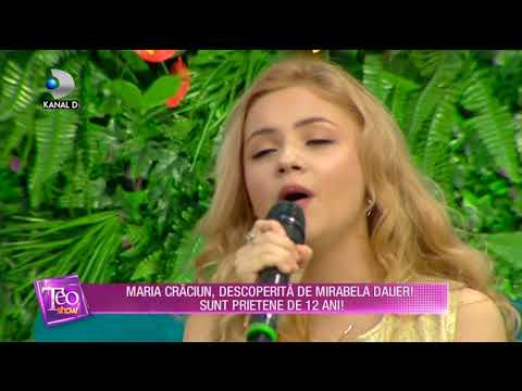 maria craciun 2018 Teo Show (13.02.2018)   Maria Craciun, descoperita de Mirabela  maria craciun 2018