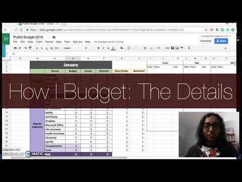 How I Budget: The Details