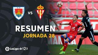 Resumen de CD Numancia vs Real Sporting (1-2)