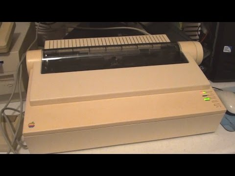Playing with the Apple ImageWriter II