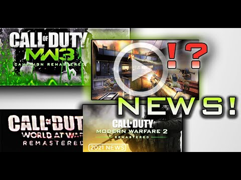 MW3 REMASTERED GAMEPLAY?!  INFINITY WARD & TREYARCH REMASTERS? campaign multiplayer NEWS / LEAKS |