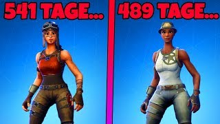 These SKINS were +100 days NOT in the ITEM-SHOP in Fortnite!