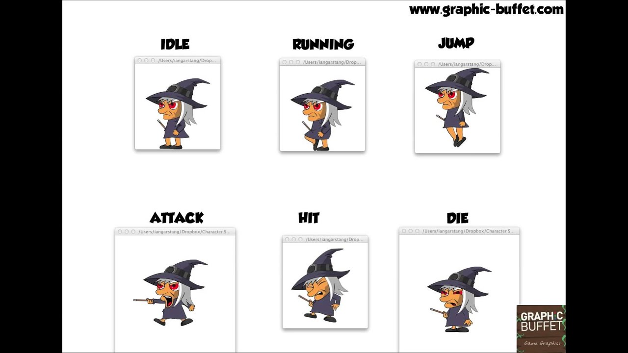 2d Character Design Pdf : Animated witch character d assets for your game youtube