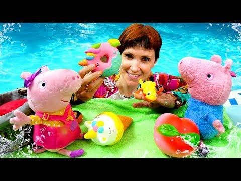 Видео для детей - Свинка Пеппа и Маша Капуки. Мультик из игрушек для девочек